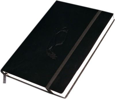 Eternal Gandhi Souvenirs Leather Large Regular Notebook Case Bound Black