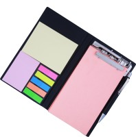 Coi MEMO NEON CORAL NOTE PAD/MEMO NOTE BOOK WITH STICKY NOTES & CLIP HOLDER IN DIARY STYLE A5 Memo Pad Soft Bound (NEON CORAL)