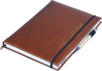 Coi Elegant Brown Faux Leather Diary 2016 With Pen With Elastic Band B5 Diary Soft Bound (Brown)