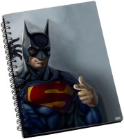 Shoperite Superman Batman A5 Notebook Ring Bound (Multicolor)