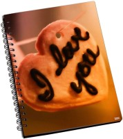 Shoprock Love You Heart A5 Notebook Ring Bound (Brown)