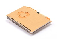 Enwraps Orange Recycle Book-size Note Pad Spiral Bound (Multi Colour, Pack Of 2)