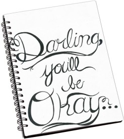 RangeeleInkers Darling You'll be Okay A5 Notebook Spiral Bound