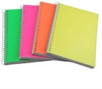 E'ncre A5 Notebook (Plain, Multicolour, Pack Of 4)