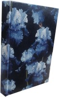TASHI Black And Blue Floral Pattern By TASHI B6 Diary Adhesive Bound (Black & Blue)