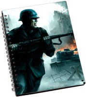 Rockmantra Army Fight A5 Notebook Ring Bound (Black)