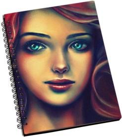 RangeeleInkers Beautiful Girl painting A5 Notebook Spiral Bound