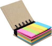 BJA Sticky Note Pocket-size Utility Pad Spiral Bound: Diary Notebook