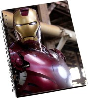 Rockmantra Iron Man A5 Notebook Ring Bound (Multicolor)