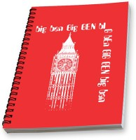 Spiral Effit Time Watch A5 Notebook Spiral Bound (Red)