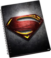 Shoprock Superman Man Of Steel Logo A5 Notebook Ring Bound (Grey)