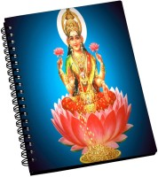 AMY Beautiful Lord Laxmin Mata Seatting In Lotus A6 Notebook Spiral Bound (Multicolor)