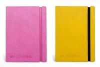 Tiara Diaries Designer MY JOURNAL A6 Notebook Hard Bound (Pink & Yellow, Pack Of 2)