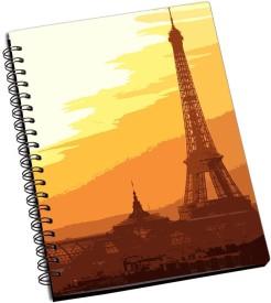 RangeeleInkers eiffel tower paris Artwork A5 Notebook Spiral Bound
