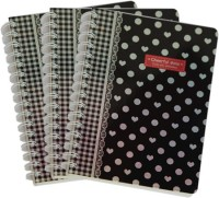 BKMM Recycled Paper Cheerful Dots A5 Notebook Ring Bound (Black, Pack Of 3)