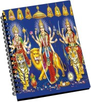 AMY Beautiful Navdurga The Nine Forms Of Goddess Durga A5 Notebook Spiral Bound (Black)
