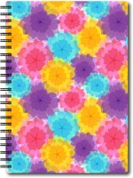 Nourish A6 Size RULED Pages Colourful Graphic Diary A6 Notebook Spiral Bound (Multicolor)