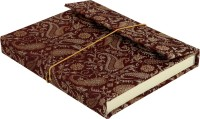 Lal Haveli Regular Diary (Handmade Paper Silk Cover Office Diary Notebook Journal Book With Pen, Maroon)