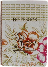 Tootpado Beautifully Carved Wooden Personal Diary (13x17 cm) - Flowers (Printed) Regular Notebook Hard Bound