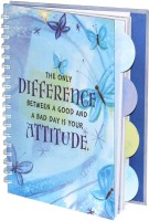 Imported Stylish Foral With 4 Different Motivational Quotes Regular Notebook Spiral Bound (Sky Blue)
