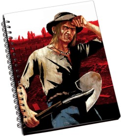 RangeeleInkers Red Dead Redemption Seth Briars A5 Notebook Spiral Bound