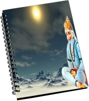 AMY Lord Hnauman Doing Tapasya In Himalayas A5 Notebook Spiral Bound (Black)