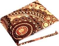 Treasure Hunt Handcrafted Floral Design Mini Notebook Hard Bound (Orange, Brown)