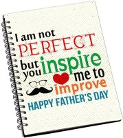 ShopMantra Dad You Inspire Me Father's Day Cushion Cover A5 Notebook Spiral Bound (Multicolor)