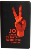 Doodle Go Getter YRF-Chak De A5 Diary Soft Bound (Red, Black)