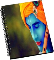 AMY 3d Bright Lord Krishna A5 Notebook Spiral Bound (Multicolor)
