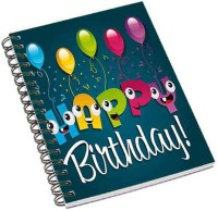 Shopmania A5 Notebook (Happy Birthday, Multicolor)