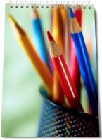 Thomson Press Color Pencil A5 Note Pad Spiral Bound (Multi Color)
