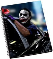 Police Shoprock Joker Police Car A5 Notebook Ring Bound (Violet)
