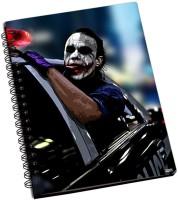 Police Shoprock Joker Police Car A5 Notebook Ring Bound (Violet)