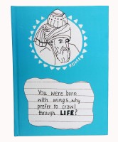 Kavi The Poetry Art Project Fly With Rumi A5 Note Pad Hard Bound (Sky Blue)