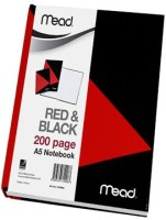 MEAD Red & Black Notebook A5 Diary Hard Bound (Red And Black)