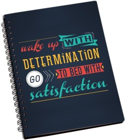 RangeeleInkers Goto bed With Satisfication A5 Notebook Spiral Bound