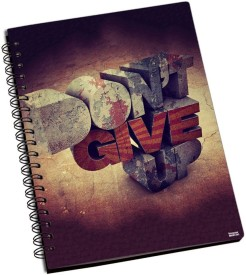 Shoprock Donot Give Up A5 Notebook Ring Bound