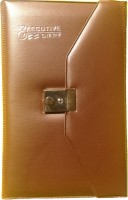 Excel 2016 Leather Executive A5 Diary Hard Bound (Brown)