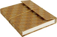 Lal Haveli Regular Diary (Handmade Paper Silk Cover Office Diary Notebook Journal Book With Pen, Brown)
