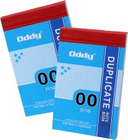 Oddy 1/12 Duplicate Note Book In 100 Sheets Regular Duplicate Books Hard Bound (White, Pack Of 4)