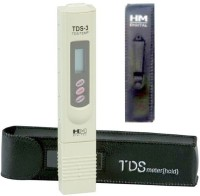 HM TDS-3 Handheld TDS Meter With Carrying Case Digital Thermometer (Ivory)
