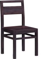 Smart Choice Furniture Middele Backside Short Design Dark Color Solid Wood Dining Chair (Set Of 1, Finish Color - Walnut Brown)