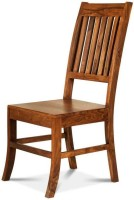 Smart Choice Furniture Wooden Modern Design Shiny Look Solid Wood Dining Chair (Set Of 1, Finish Color - Brown)