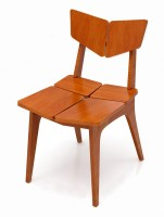 Crosscut Furniture Prima Chair Solid Wood Dining Chair (Set Of 1, Finish Color - Natural Wood)