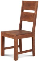 Smart Choice Furniture Modern Stylish Wooden Solid Wood Dining Chair (Set Of 1, Finish Color - Brown)