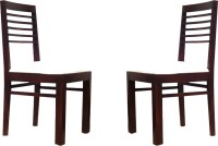 Smart Choice Furniture Set Of Two Modern Style Chair With Uphosary Seat Solid Wood Dining Chair (Set Of 2, Finish Color - Walnut)