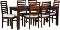 HomeEdge Solid Wood Dining Set (Finish Color - Natural Wood Finish)