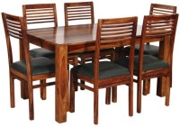 HomeEdge Solid Wood Dining Set (Finish Color - Provincial Teak)