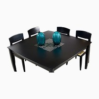 Godrej Interio Jewel Solid Wood Dining Set (Finish Color - Indian Mahogany)